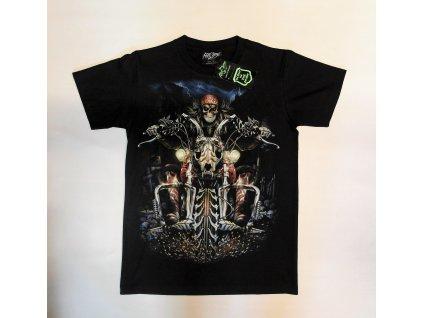 Pánské triko jezdec na kostře, Brixton, černé