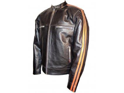 Pánská kožená bunda Orange, Brixton, oranžová
