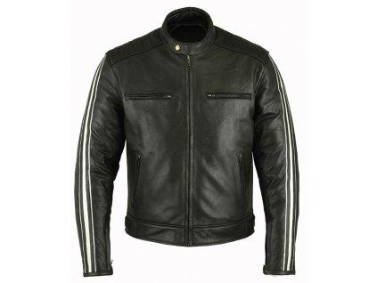Pánská kožená bunda Ace 2 černá