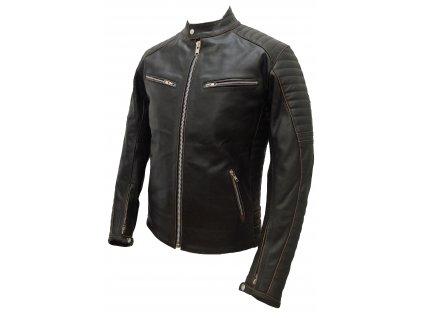 Pánská kožená bunda Shane Ruboff černá