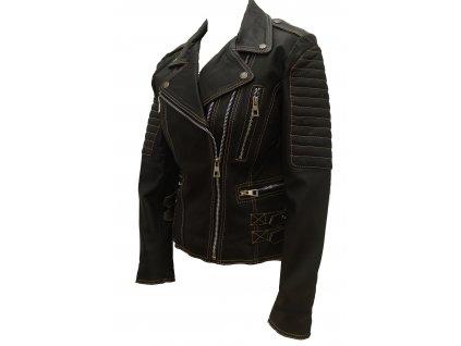 Dámská kožená bunda Dafne, Brixton, černá
