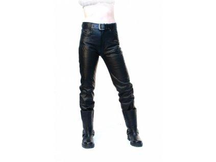 Pánské kožené kalhoty T - 501 Černé