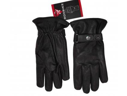 Moto rukavice kožené RoxBike, Brixton, černé