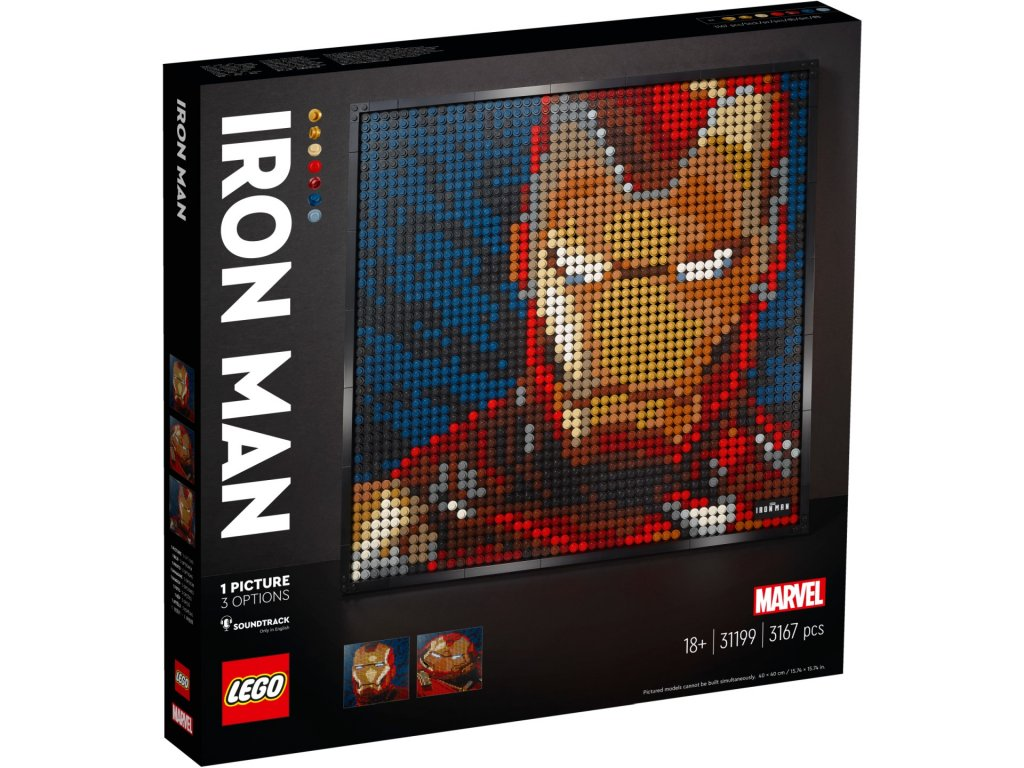 LEGO Art 31199 Iron Man od Marvelu krabica predok