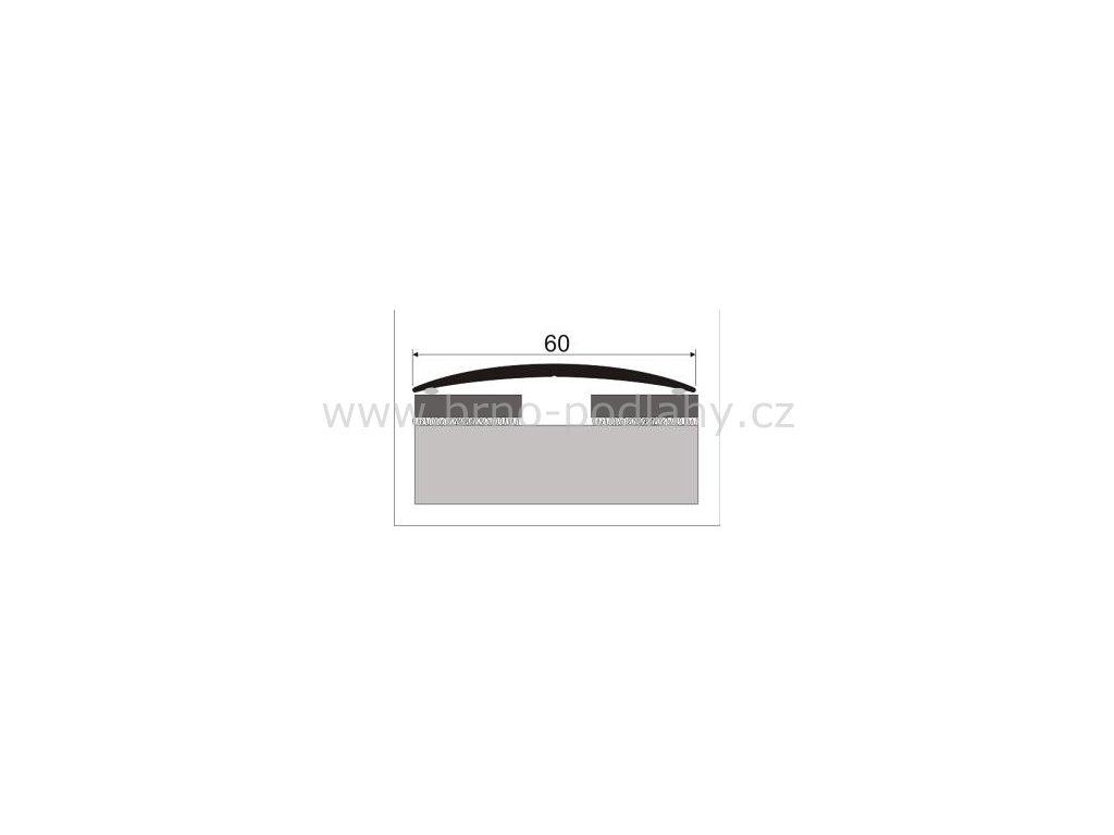 Přechodový profil 60 mm, oblý - samolepící