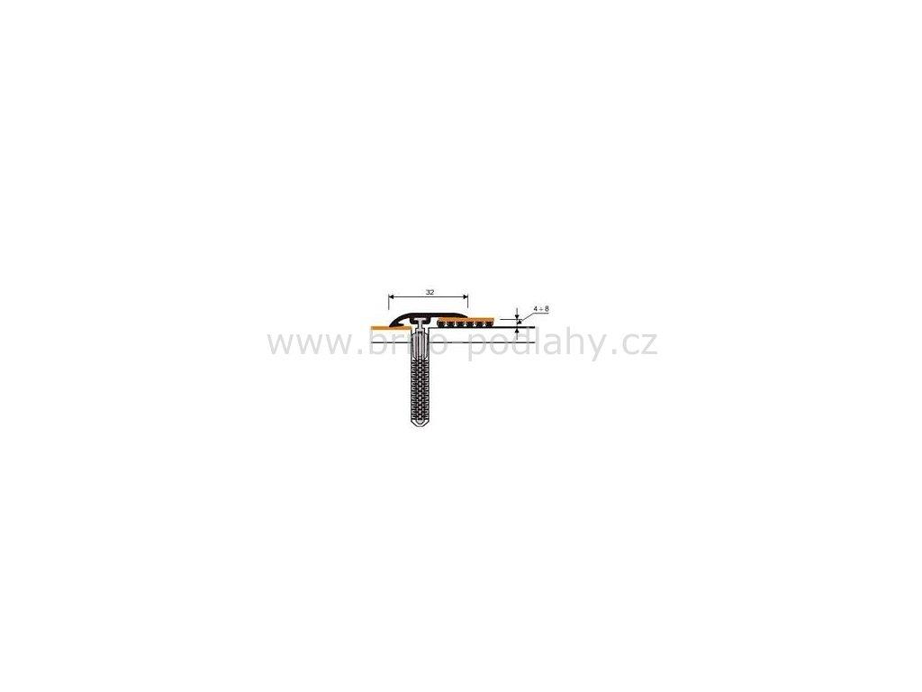 MYCK D-Z0100 Plastový nájezdový profil  32 mm  - samolepící s hmoždinkou