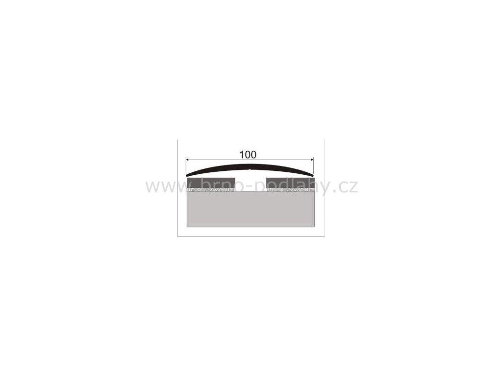 Přechodový profil 100 mm, oblý - samolepící