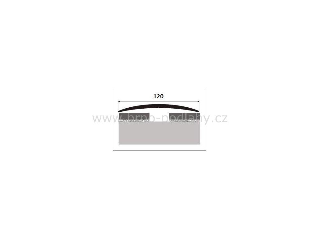 Přechodový profil 120 mm, oblý - samolepící