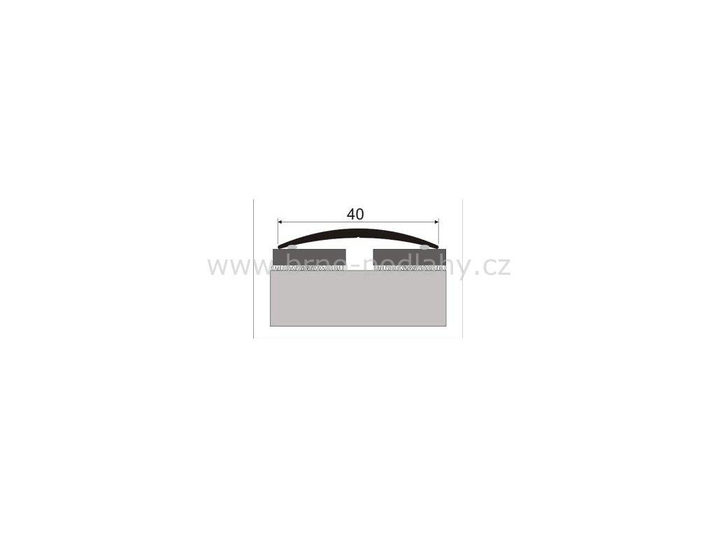 Přechodový profil  40 mm, oblý - samolepící