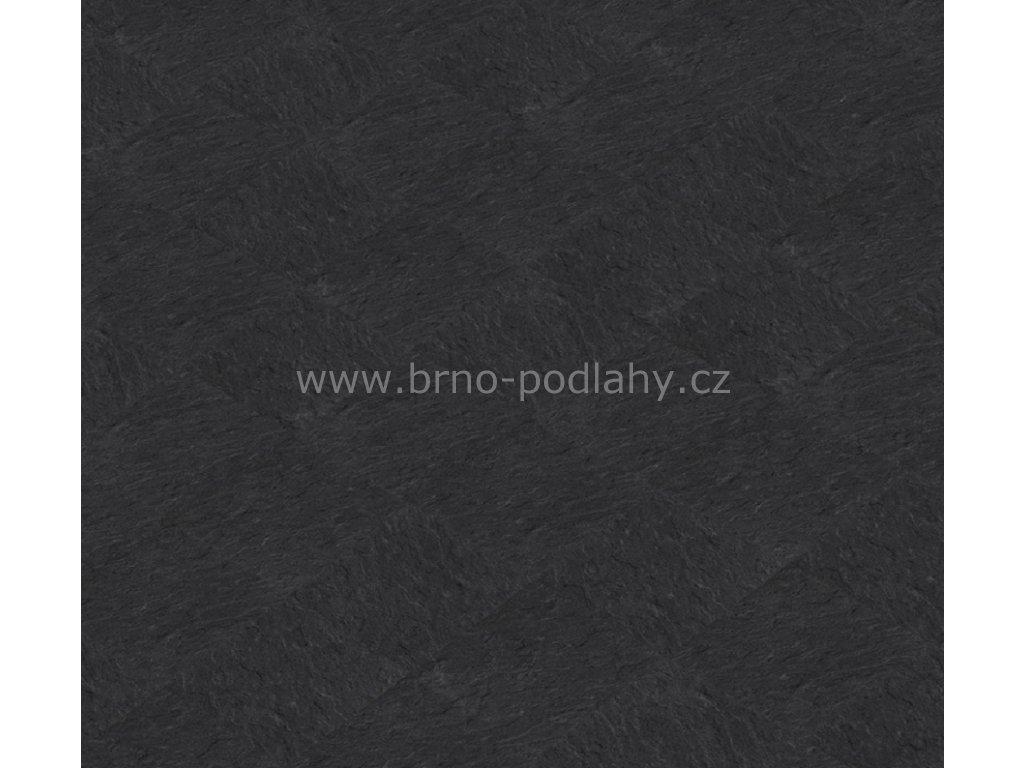Thermofix STONE, tl. 2mm, 15402-2 Břidlice standard černá - lepená vinylová podlaha