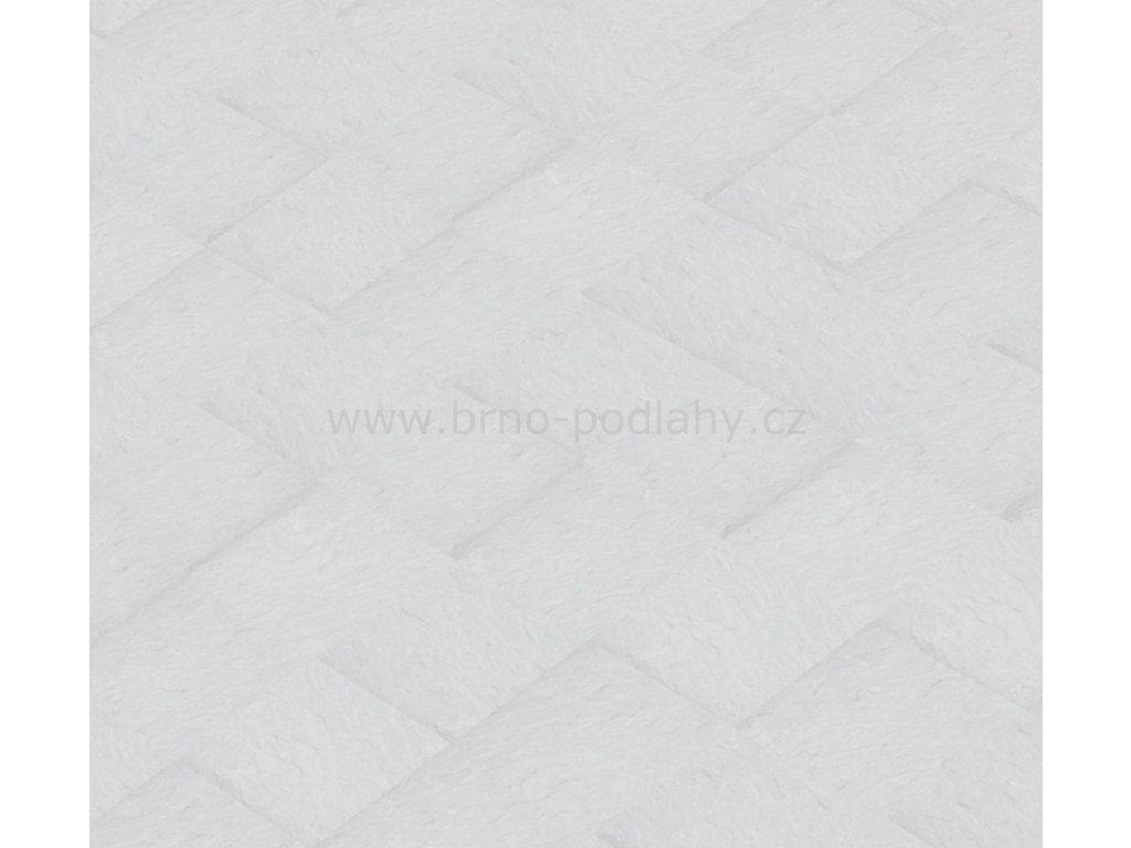 Thermofix STONE, tl. 2mm, 15402-1 Břidlice standard bílá - lepená vinylová podlaha