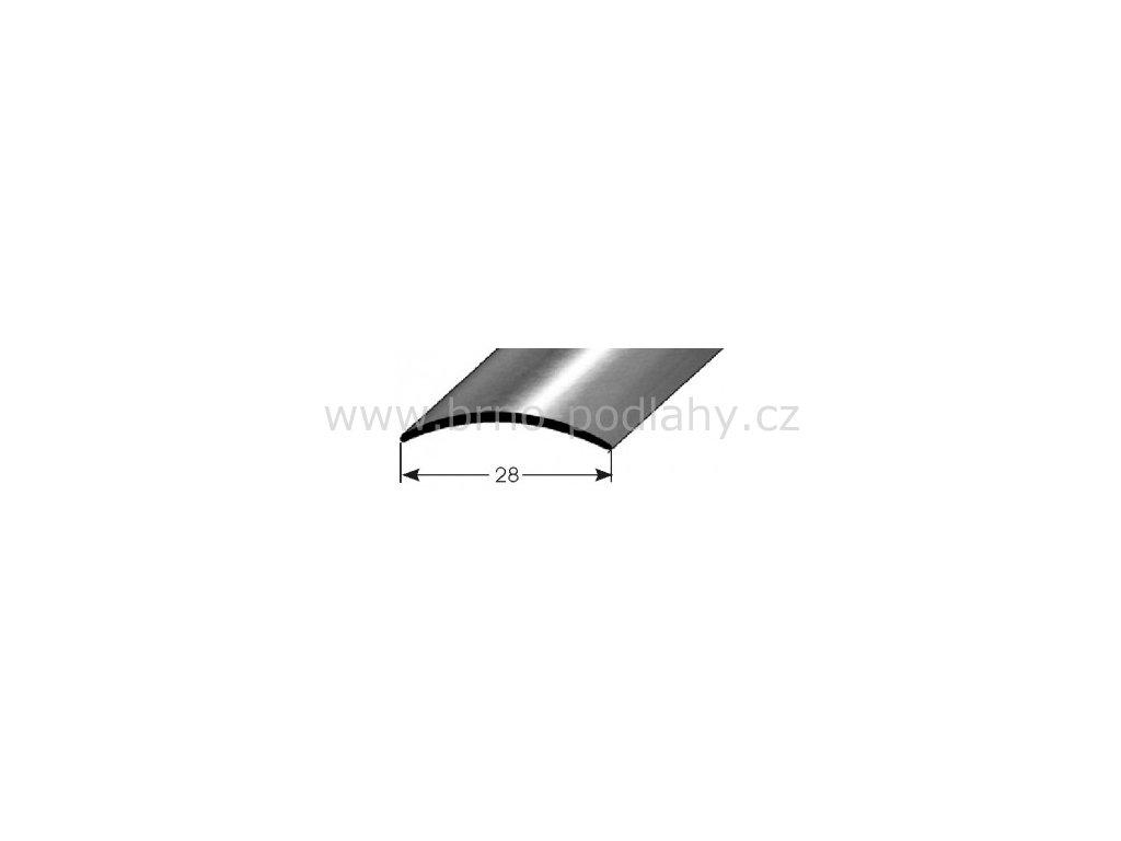 Přechodový profil  28 x 1,5 mm, samolepící