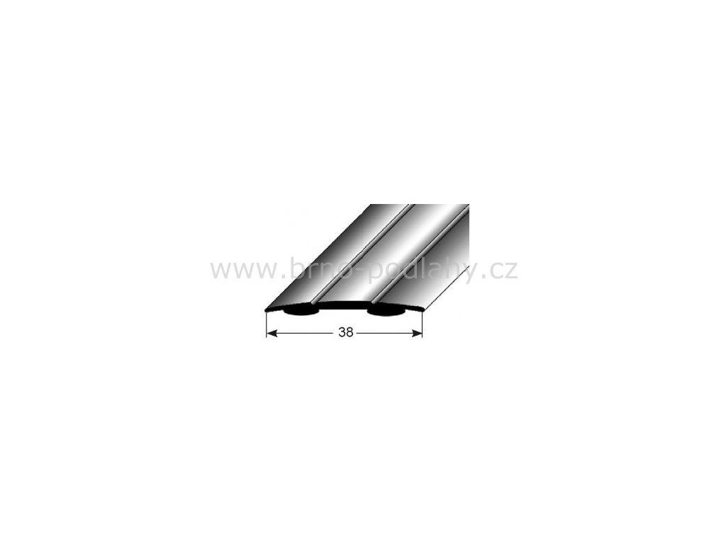 Přechodový profil  38 x 1,8 mm, samolepící