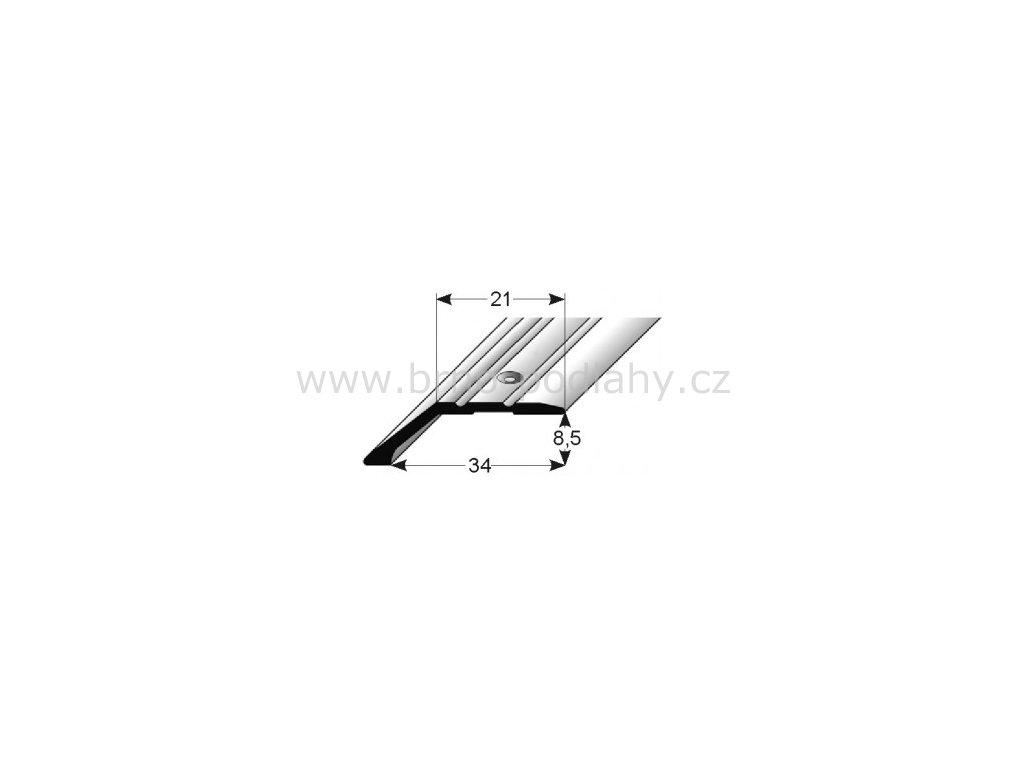 Ukončovací profil  34 x 8,5 mm, šroubovací