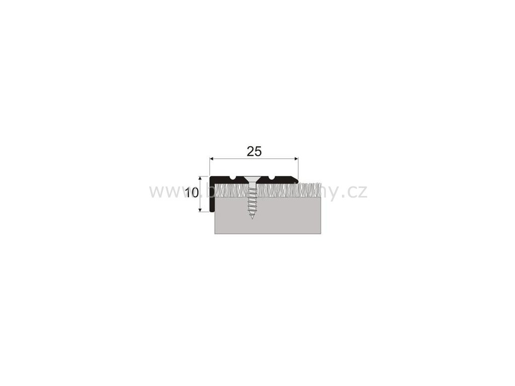 Schodová hrana 25 x 10 mm, šroubovací