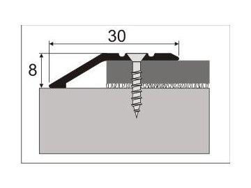 Ukončovací nájezd 8 mm, samolepící