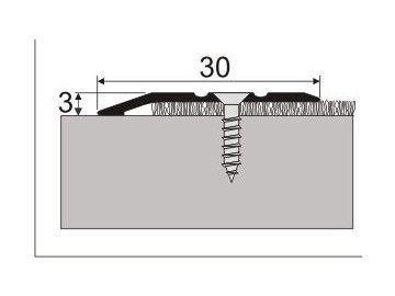 Ukončovací nájezd 3 mm, šroubovací