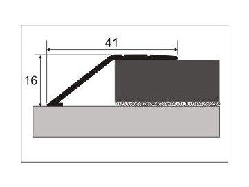Ukončovací nájezd 14 mm, samolepící