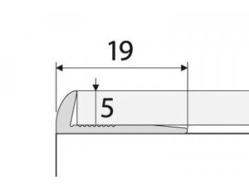 Ukončovací profil 5 mm pro PVC, vinyl, koberce