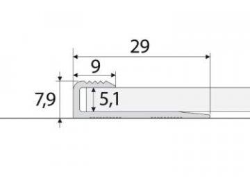 Zásuvný profil 5 mm pro PVC, vinyl, koberce