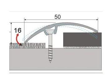 Přechodový profil 50 mm, oblý - narážecí