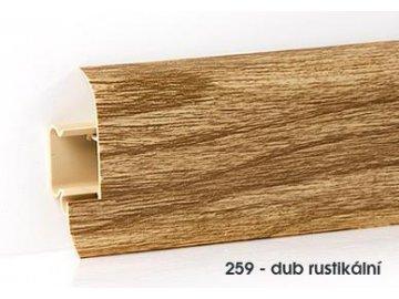Soklová lišta plast OPTIMA 60 Dub rustikální 259