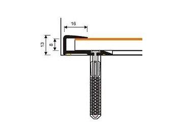 MYCK  D-Z0200 Plastový ukončovací profil tl. mat.  8-9mm - samolepící s hmoždinkou