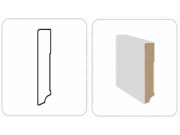 Soklová lišta KP 100 bílá, hranatá, 240 cm