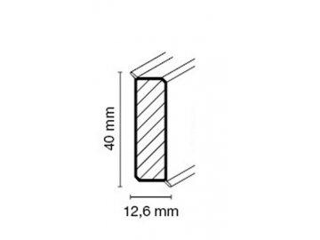 Soklová lišta CUBU flex life 40mm, bílá, hranatá, 250 cm