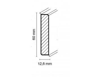 Soklová lišta CUBU flex life 60mm, bílá, hranatá, 250 cm