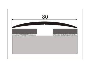 Přechodový profil 80 mm, oblý - samolepící