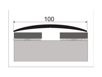 Přechodový profil 100 mm, oblý - šroubovací