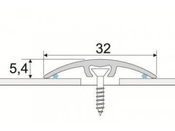 Přechodový profil 32 mm, oblý - narážecí