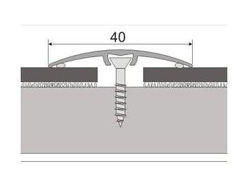 Přechodový profil 40 mm, oblý - narážecí