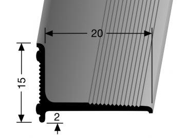 Stěnová ukončovací lišta Küberit 369/SK, 20 x 15 mm, 270cm