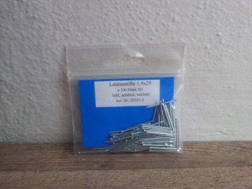 Hřebíky lištové 1,4 x 25 pozink 100 ks