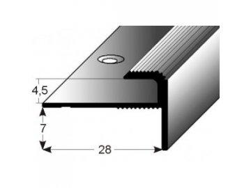 Zásuvný profil  4,5 mm s nosem