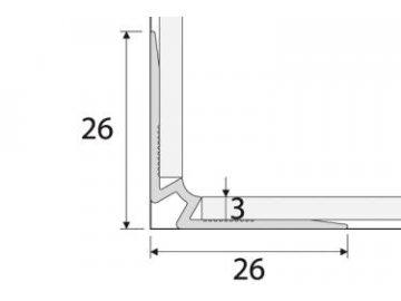 Schodový vnitřní profil do 3mm