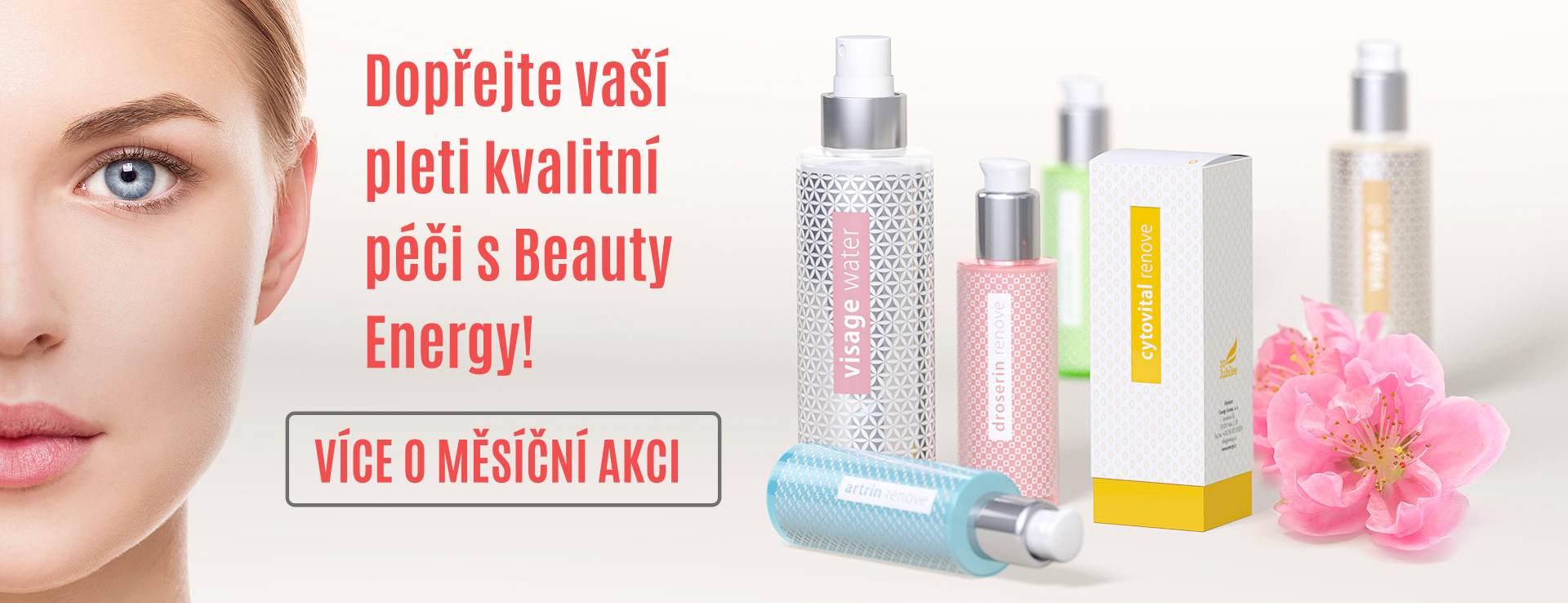 Dopřejte vaší  pleti kvalitní  péči s Beauty  Energy!