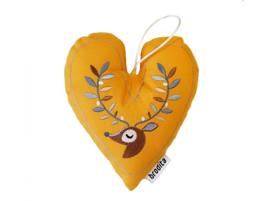 srdce velké žluté