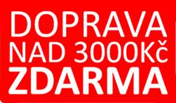 Doprava zdarma nad 3000 Kč