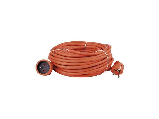 Prodlužovací kabel – spojka, 20m, 3× 1,5mm, oranžový