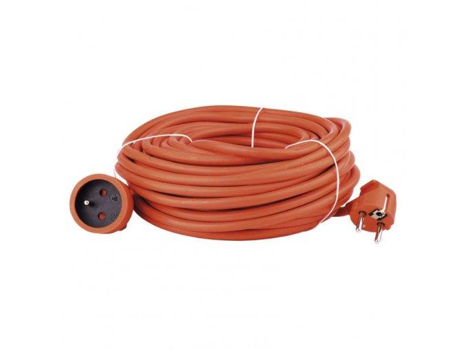 Prodlužovací kabel – spojka, 30m, 3× 1,5mm, oranžový