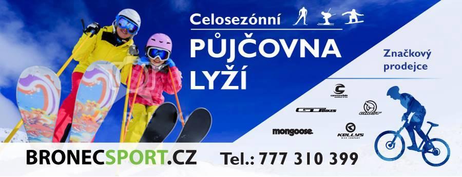 Celosezónní půjčovna lyží, snowboardů a běžeckých kompletů