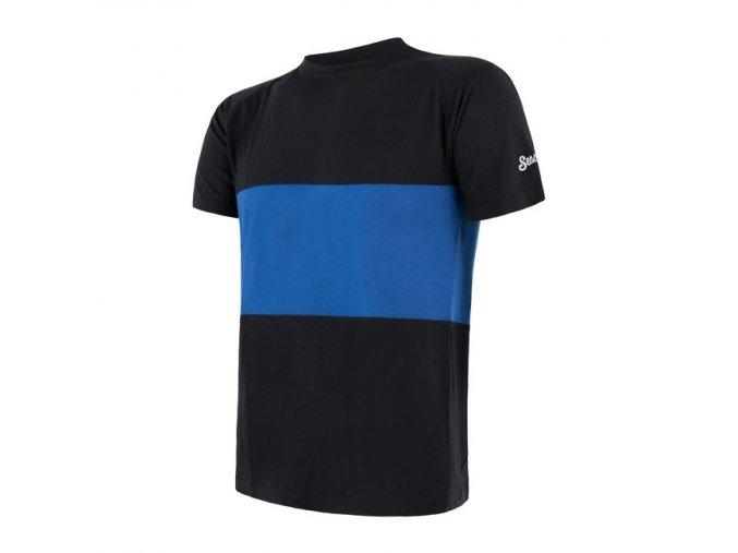 triko krátké pánské SENSOR MERINO AIR PT černo/modré