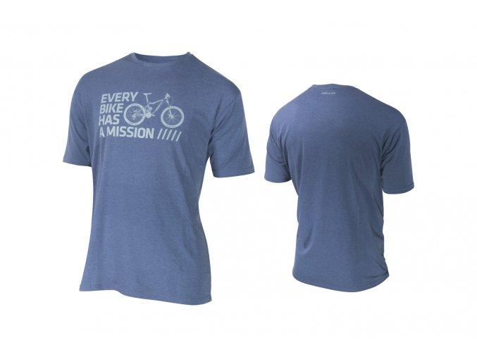 KELLYS Tričko BIKE MISSION krátký rukáv Blue