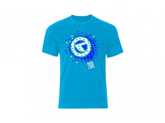 KELLYS Tričko SPLATTER krátky rukáv blue