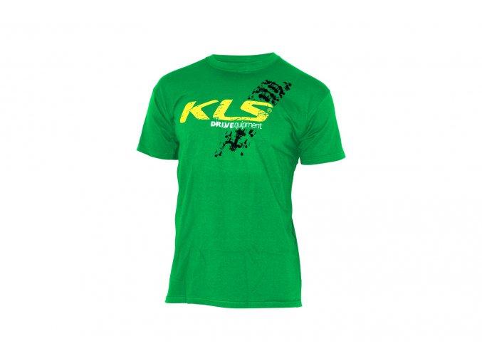 KELLYS Tričko KLS DRIVEQUIPMENT krátký rukáv Green