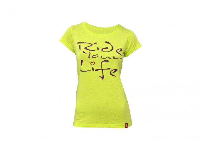 KELLYS Tričko WOMEN´S RIDE YOUR LIFE krátký rukáv Lime