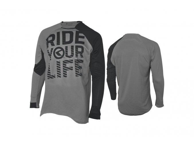 KELLYS Enduro dres RIDE YOUR LIFE dlouhý rukáv grey